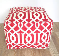 items similar to red square pouf ottoman red outdoor pouf