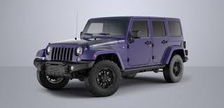 purple jeep no doors 2017 jeep wrangler winter limited edition