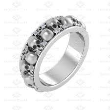 brilliant skull wedding rings for matvuk com