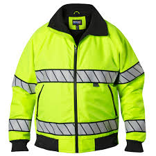 hi vis cycling jacket waterproof hi vis fleece bomber jacket u2013 blauer 6113 hi vis jacket