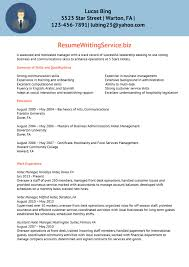 Sample Resume For Hotel Management by Example Cv Over 50