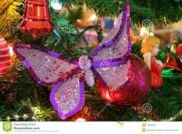 christmas decorations butterfly stock photo image 47832830