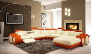 contemporary couches white and orange contemporary couches