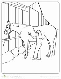 groomed horse coloring worksheets horse horse camp