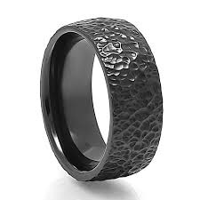 black metal rings images Men 39 s zaboda textured black zirconium ring by j r yates png
