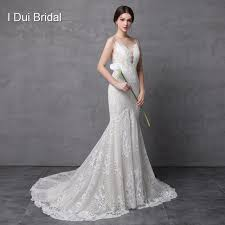 spaghetti wedding dress spaghetti mermaid wedding dresses luxury lace high quality