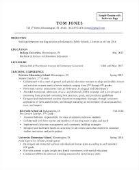 Teaching Objectives For Resume Elementary Teacher Resume Sample Hipster Resume For