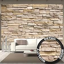steinwand küche fototapete steinoptik 3d wandbild dekoration stein tapete mauer