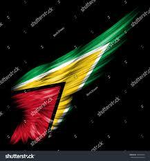 Guyana Flag Guyana Flag On Abstract Wing Black Stock Illustration 130970534