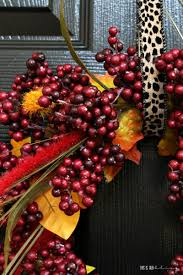 diy autumn leaf and berry wreath this is our bliss