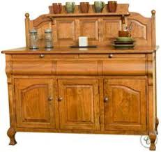 amish shaker country hutch buffet server china cabinet solid wood