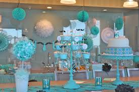 baby shower decoration ideas comfortable blue and green baby