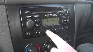 how to input radio code on ford radios youtube