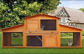 Rabbit Hutch With Large Run Rabbit Hutch Run Large Cage Pen Guinea Pigs Rabbits Hutches Wood