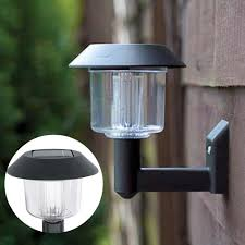 solar powered outdoor l post lights solar powered wall light dutchglow org