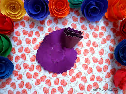 Making Of Flowers With Paper - easy paper rose flower making artxplorez
