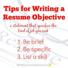 resume objective writing tips for resume objective resume objective statement for customer service resume
