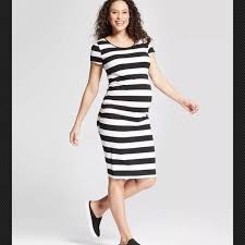 liz lange liz lange liz lange maternity shirred stripe t shirt dress from