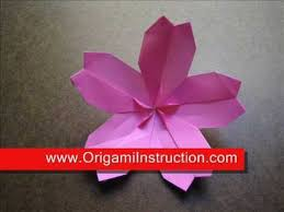 Origami Modular Flower - how to make an origami modular cherry blossom youtube