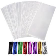 treat bags 200 treat bags 3x4 with 200 twist ties 4 6 mix colors