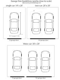 size of a three car garage standard 3 car garage size standard 3 car garage measurements