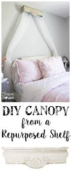 Bed Canopy Crown Diy Canopy Crown From A Repurposed Shelf