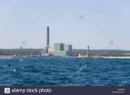 sandwich power plant at the east end of the cape cod canal stock