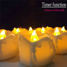 led tea lights with timer flickering flameless led tea light candle w timer function dipped