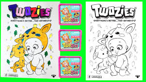 twozies coloring pages surprise toys blind bags baby pet crayola