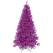 9 pre lit artificial tree purple lights target