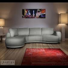 Bespoke Leather Sofas by Luxury Curved Grey Leather 3 Seater L Shaped Corner Sofa Bespoke