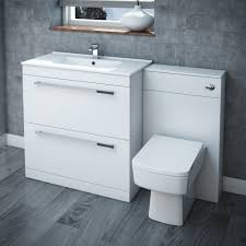 nova high gloss white vanity bathroom suite w1300 x d400 200mm
