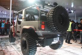 mahindra jeep thar 2016 mahindra thar daybreak edition customized vehicle 2016 auto expo