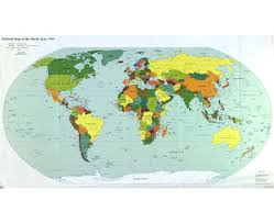 Map Of The World Countries by Map Of The World Countries And Capitals You Can See A Map Of