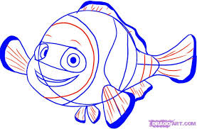how to draw nemo from finding nemo step by step disney