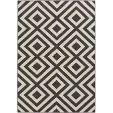 Cream And Blue Rug Modern Outdoor Rugs Allmodern