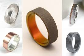 modern mens wedding bands ring cycle unique wedding rings for men and women