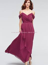 burgundy dress for wedding shoulder bridesmaid dresses a line chiffon bridesmaid dresses