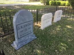 tombstones for fictional tombstones for ewing family picture of southfork ranch