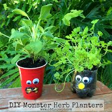 diy monster herb planters kids crafts crafts and crafting