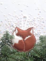 felt fox ornament tree ornament handcrafted door stilllifehome