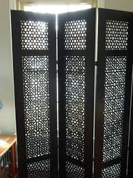 furniture awesome 4 panel carved moroccan room divider folding