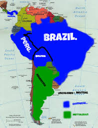 Map Of Brazil South America by Map Of Empires South America By The Ironwing Kaiser On Deviantart