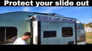 Rv Awning Protective Cover R Pod Trailer Slide Out Cover Installation Video Youtube
