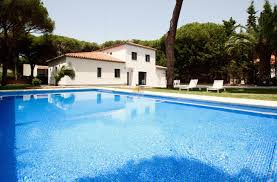 modern holiday rental with a large plot and pool close to the