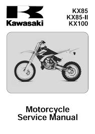 kawasaki service manual 2007 2008 2009 kx85 kx85 ii u0026 kx100