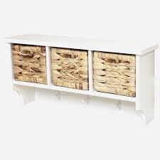 Wicker Storage Bench Hall Storage Bench With Baskets Entryway Furniture Ideas