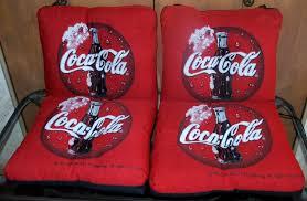 Coca Cola Chairs 4 Rare Coca Cola Tapestry Chair Cushions U0026 4 Table Mats Nex Tech