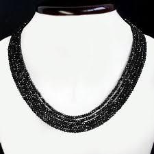black large necklace images Black spinel necklace ebay jpg