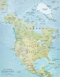 Large Map Of United States by United States Of America And Canada Map North Dakota Studies